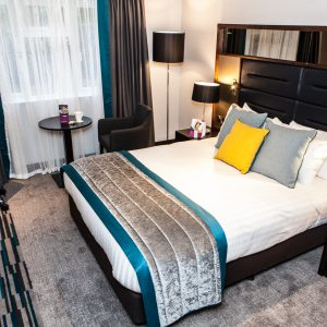 Refurbished bedroom at Crowne Plaza Felbridge