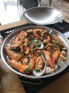 The winning dish - Prawn Cataplana