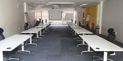 COVID-19 training room layout