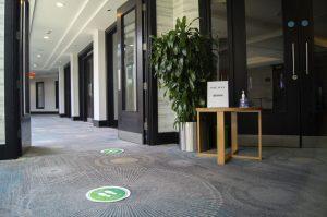 Covid-19 secure event corridor