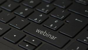 Webinar on a keyboard